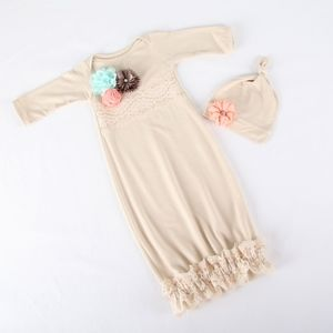 Handmade 0-3 mo Bring Me Home Gown & Hat NEW